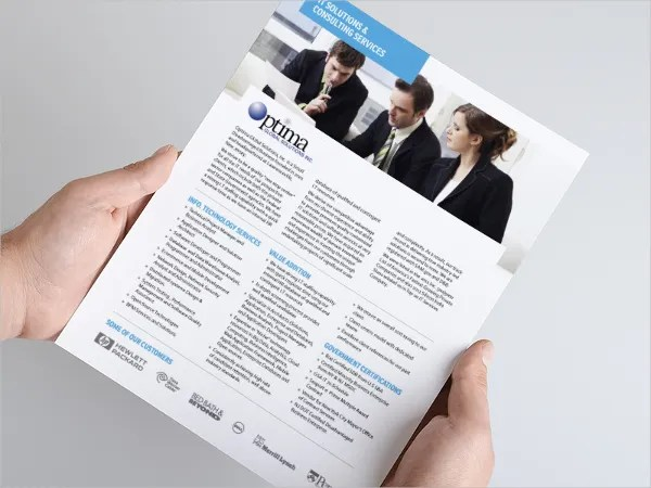 One Page Brochure Template - 18+ Free PSD, AI, Vector EPS Format