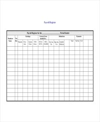 Payroll Register Template - 7+ Free Word, Excel, PDF ...