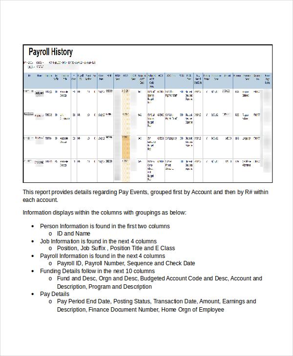 payroll register template - Teacheng - template for payroll