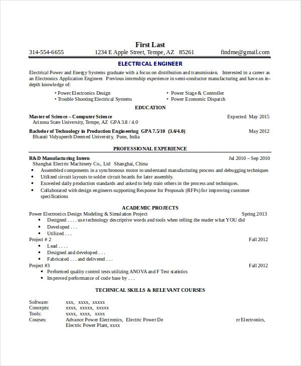 industrial concrete resume sample