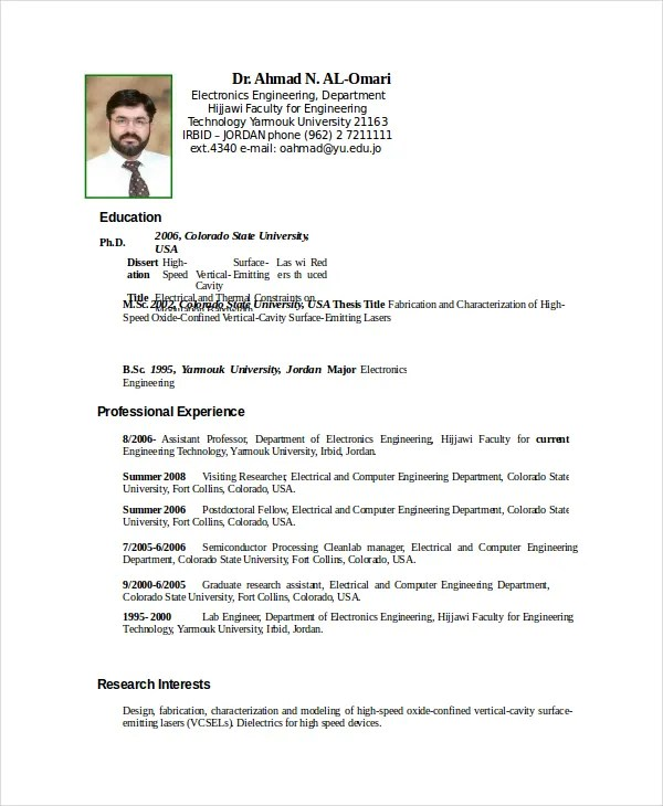 electronics resume sample - Onwebioinnovate