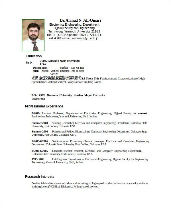 resume model for ac technician
