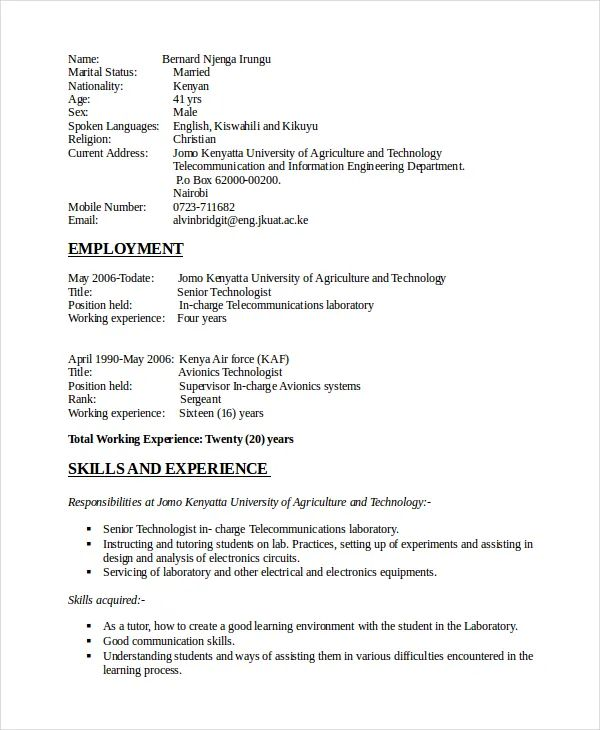 communication engineering skills resume