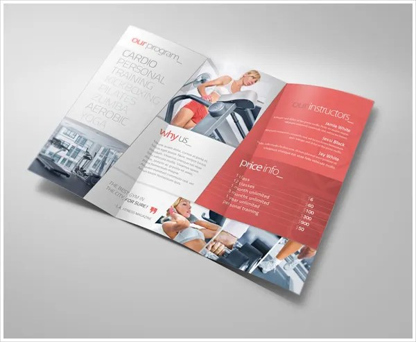 19+ Sports  Fitness Brochure Templates - Free PSD, AI, Vector EPS - Fitness Brochure