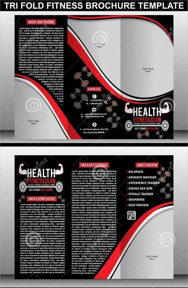 19+ Sports  Fitness Brochure Templates - Free PSD, AI, Vector EPS - Fitness Brochure