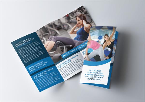 tri fold template brochure