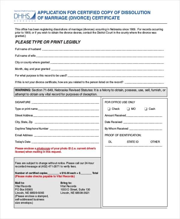 Divorce Certificate Template - 9+ Free Word, PDF Document Downloads