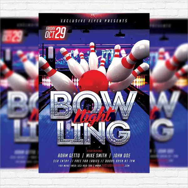 16+ Bowling Flyer Templates - PSD, Ai, InDesign Free  Premium
