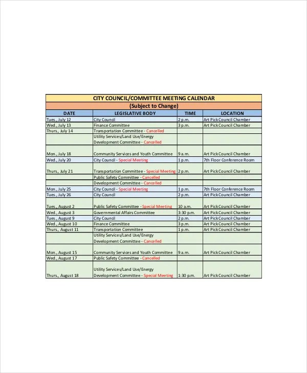 Office Calendar Template - 7+ Free Word, PDF Documents Download - important dates template