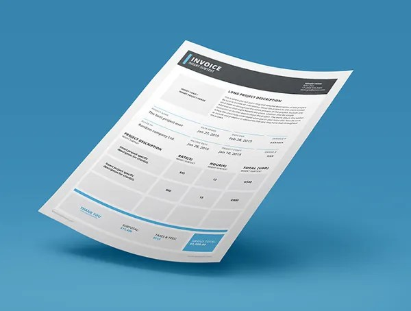 InDesign Invoice Template - 7+ Free Indesign Format Download Free