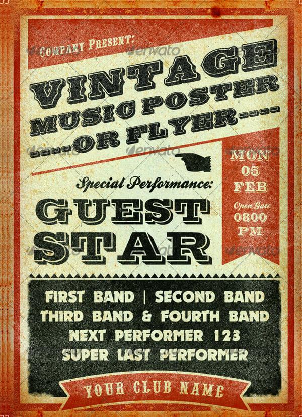 retro concert flyer template - Mabelmobeetel