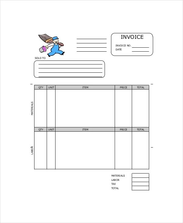 how to create invoice in word