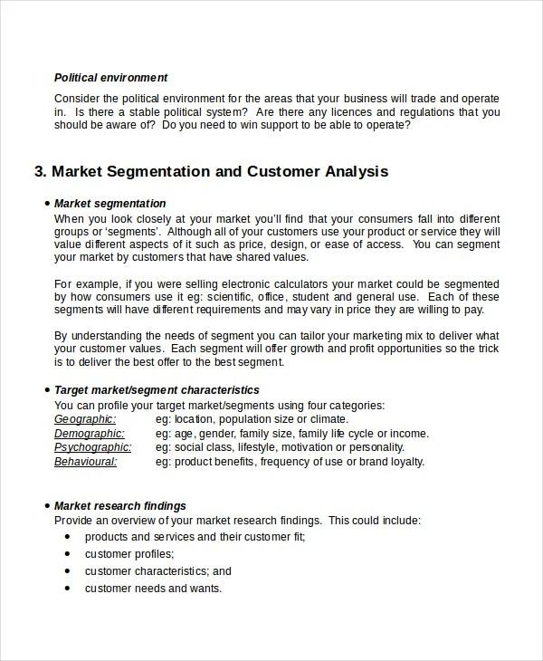 Customer Analysis Templates - 9+ Free Word, PDF Document Download