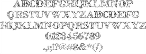 rope fonts - Seckinayodhya