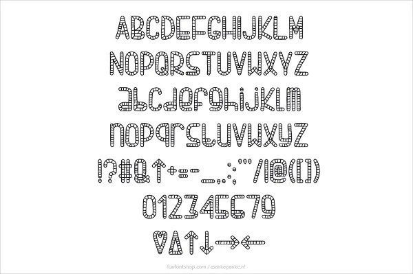 alpha rope font waterfall rope alphabet font embroidery font - font for a resume