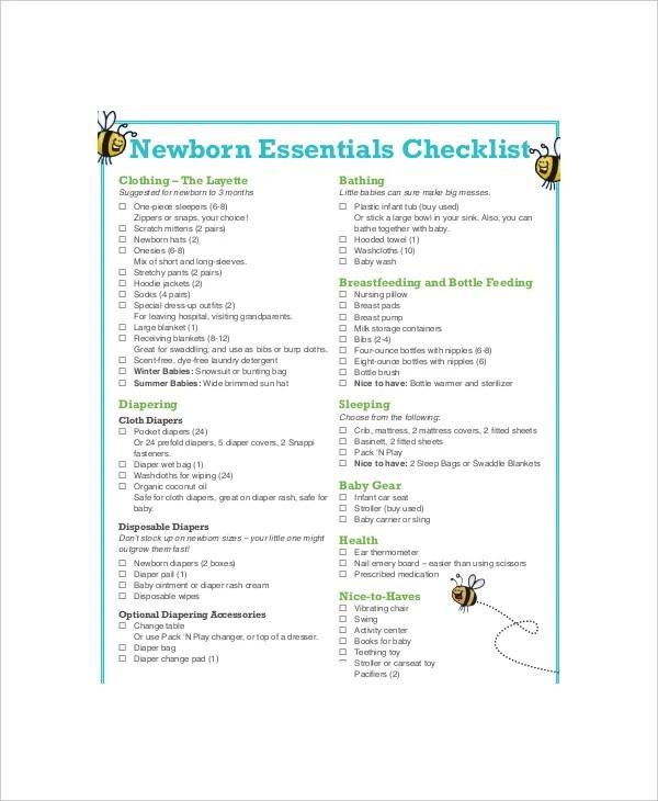 First Baby Registry Checklist - 6+ Free PDF Documents Download