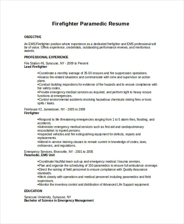 sample fire resume - Onwebioinnovate - Fire Training Officer Sample Resume
