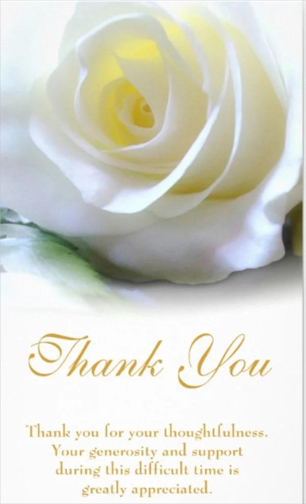 11+ Sympathy Thank You Card Designs  Templates - PSD, Vector EPS