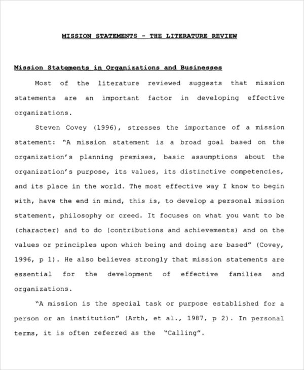 Mission Statement Template - 9+ Free Word, PDF Document Downloads - purpose statement template