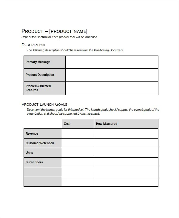 product launch plan pdf - Maggilocustdesign - product plan template