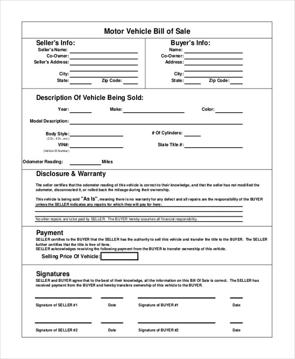 microsoft templates bill of sale - Bire1andwap - Microsoft Office Bill Of Sale Template