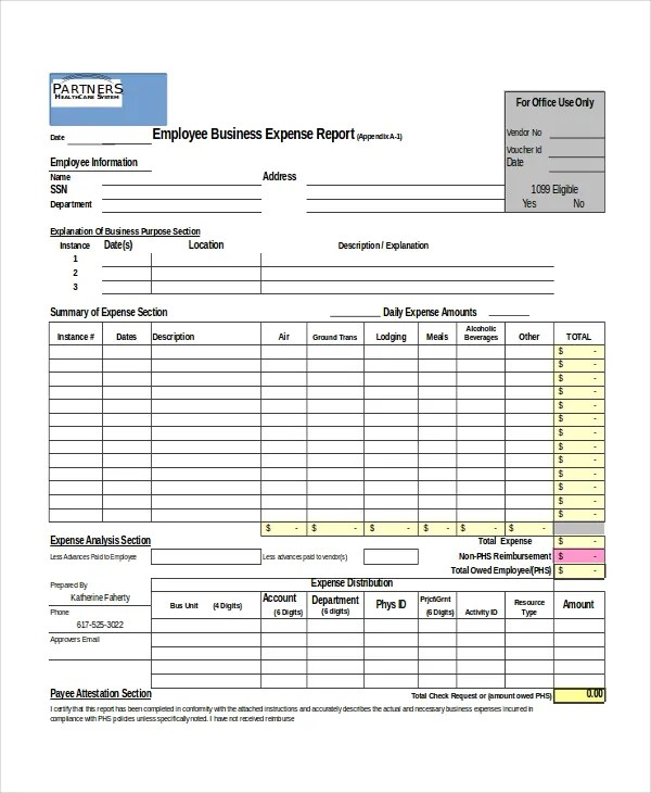 Excel Report Template - 5 Free Excel Document Downloads Free