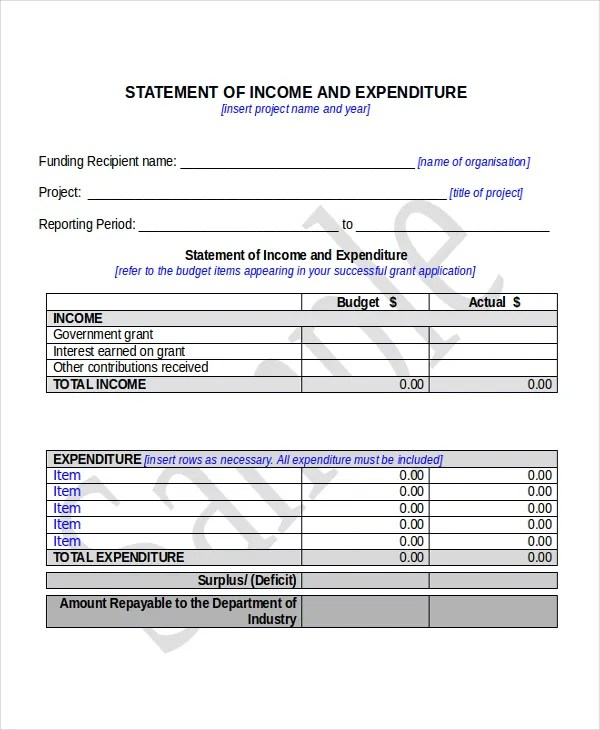 Income Statement Template - 8+ Free Word, Xls, PDF Document