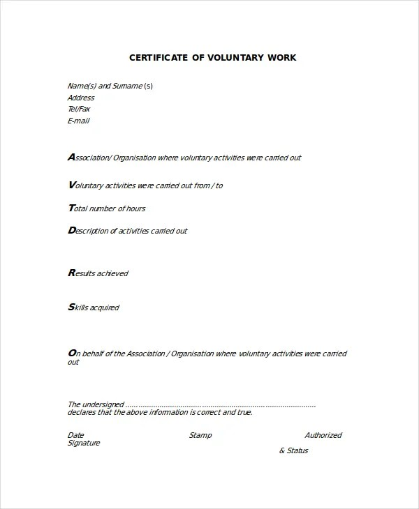 Work Certificate Template - 9+ Free Word, Excel, PDF Documents