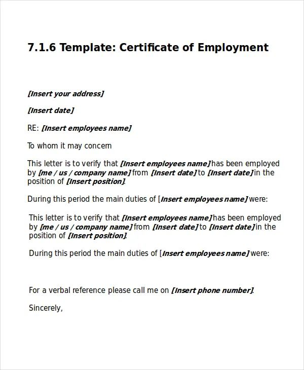 work certificate templates