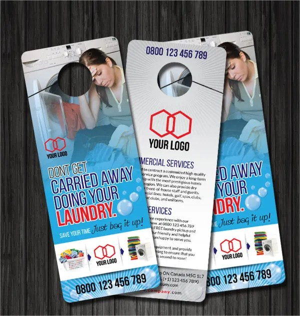 20+ Creative Door Hanger Designs Free  Premium Templates - door hanger design template
