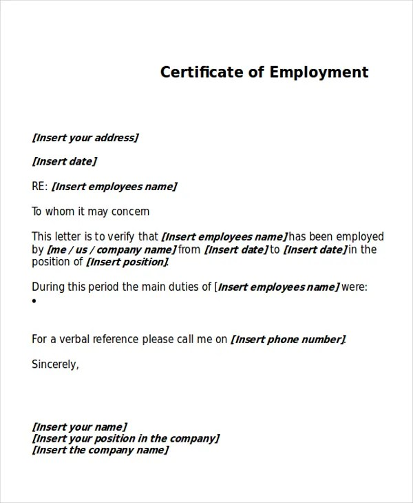 sample of employee certificate - Romeolandinez - sample certificate of service template