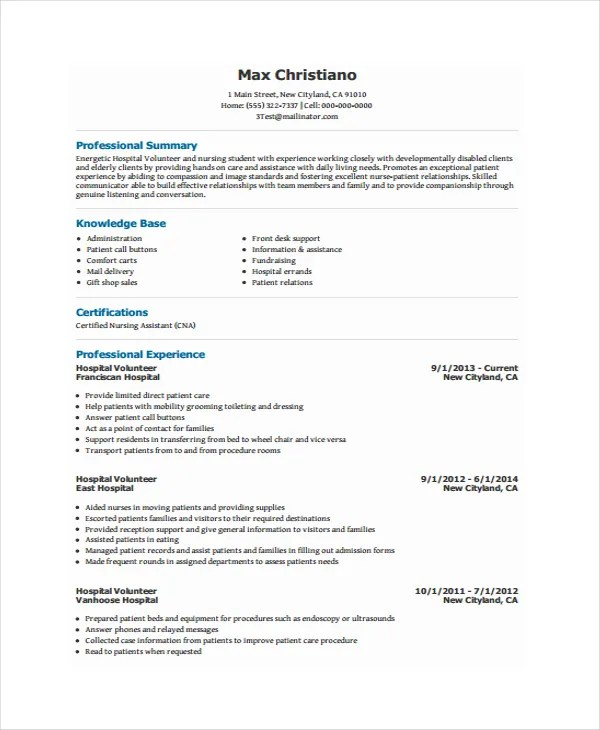 volunteer resume template - Ozilalmanoof
