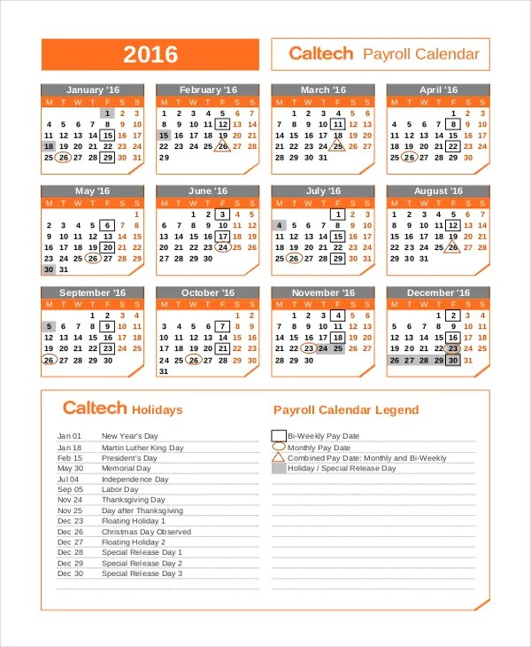 Payroll Calendar Template - 10+ Free Excel, PDF Document Downloads - payroll calendar template