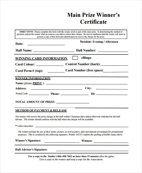 Winner Certificate Templates - 21+ PDF, Word, AI, InDesign, PSD