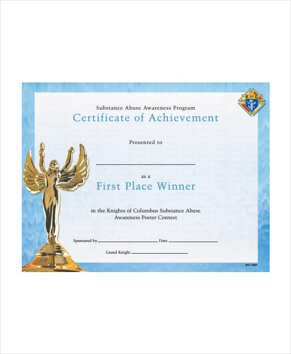 Winner Certificate Template - 9+ Free PDF Document Downloads Free