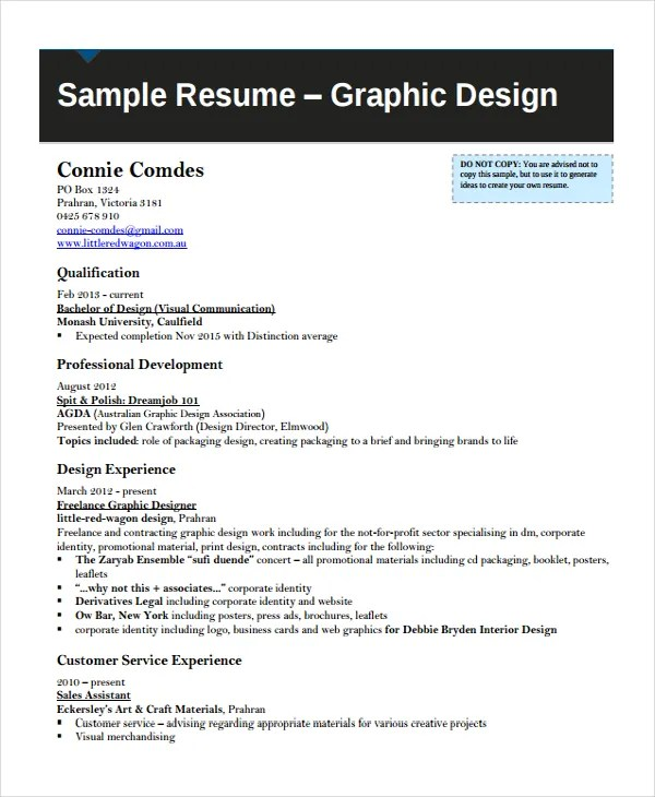 Artist Resume Template - 7+ Free Word, PDF Document Downloads Free - Sample Artist Resume
