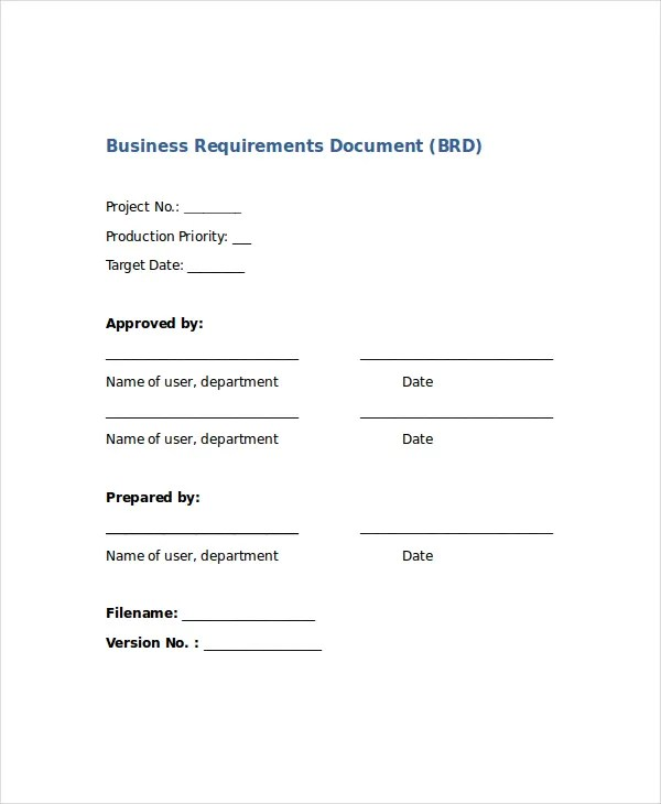 Word Business Template - 8+ Free Word Document Downloads Free - business requirements document template