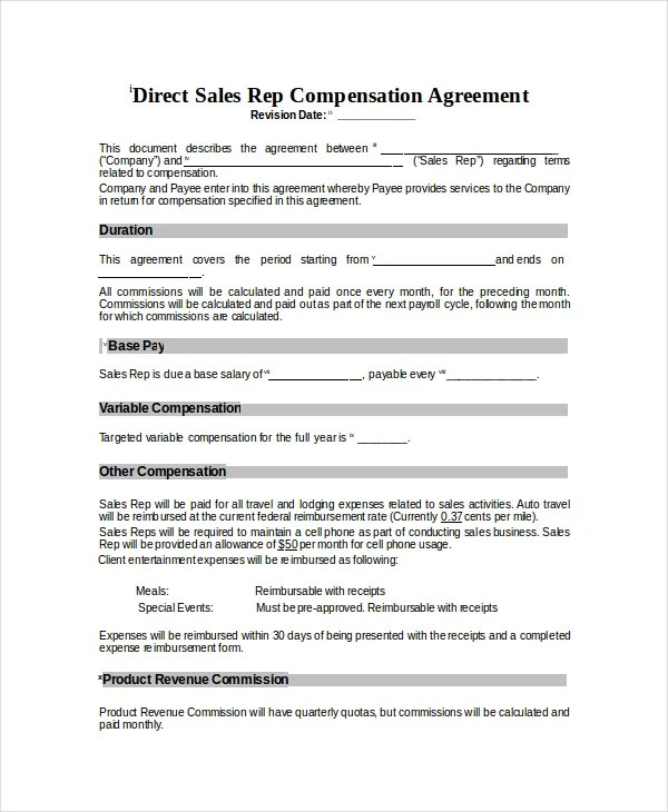 Compensation Plan Template - 8+ Free Word, Document Downloads Free - compensation plan template