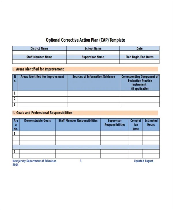 Action Plan Template - 14+ Free Word, PDF Document Downloads - action plan sample template