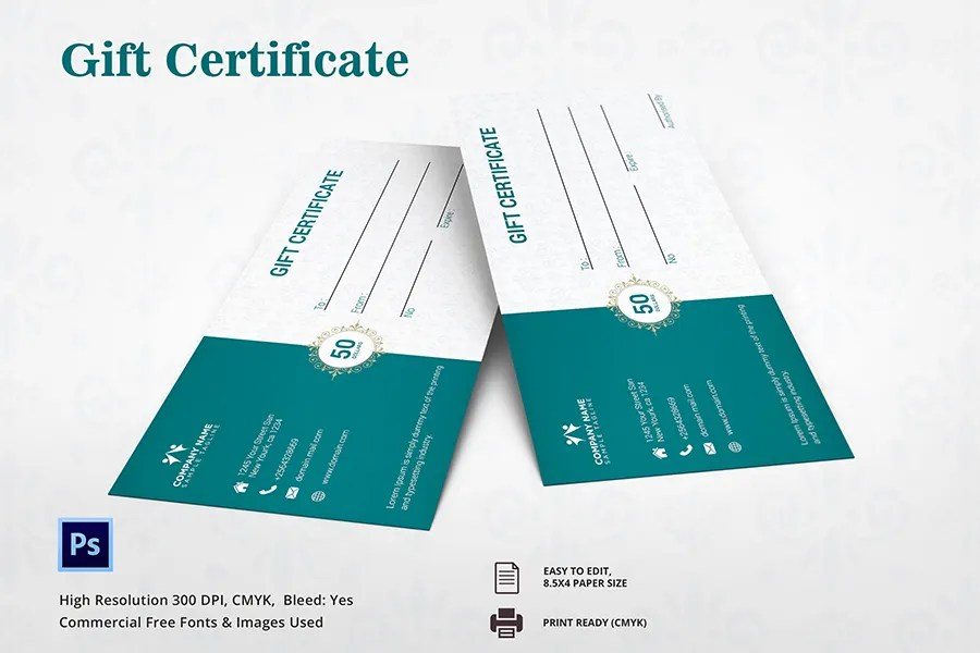 Gift Certificate Template - 9+ Free Word, PDF Document Downloads