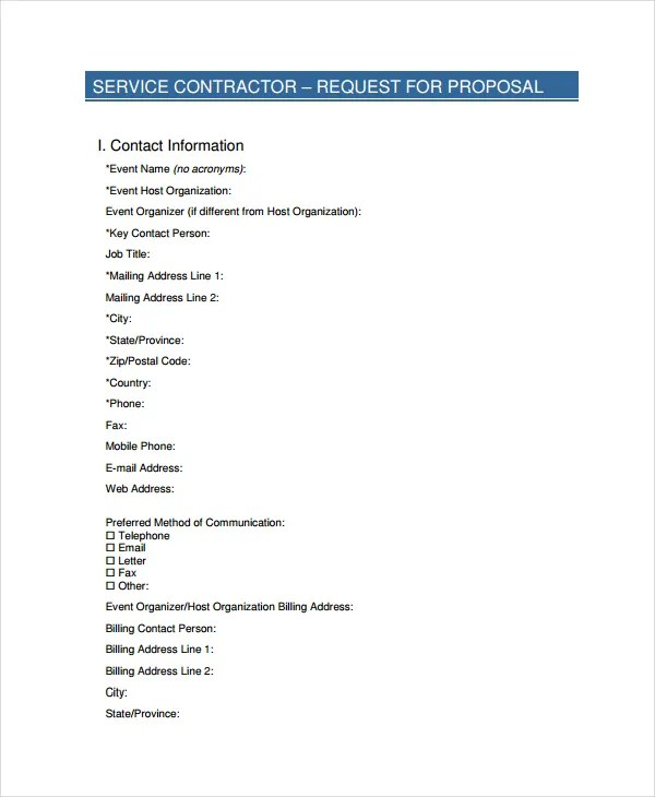 Service Proposal Template - 14+ Free Word, PDF Document Downloads - It Services Proposal Template