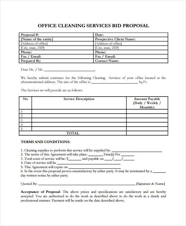 Service Proposal Template - 14+ Free Word, PDF Document Downloads - services proposal template word