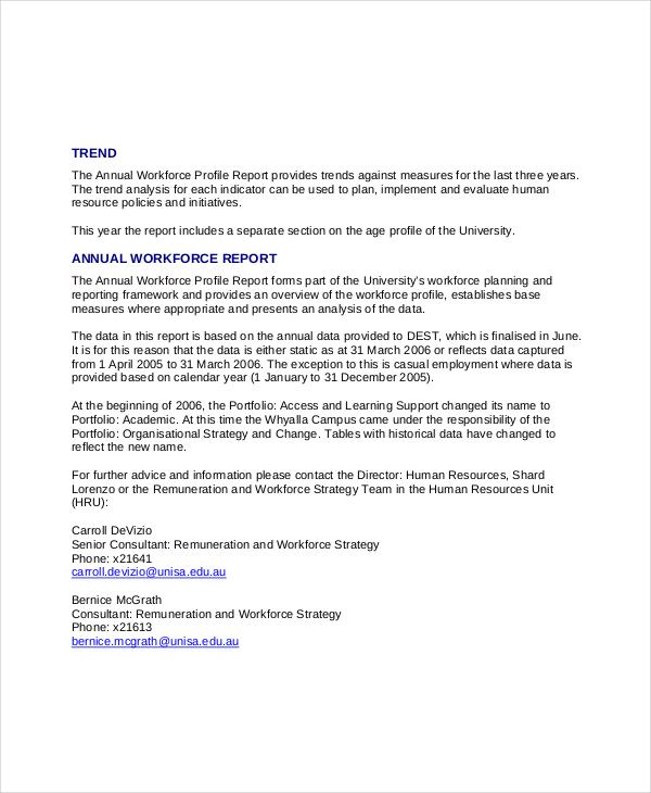 hr annual report template - Towerssconstruction