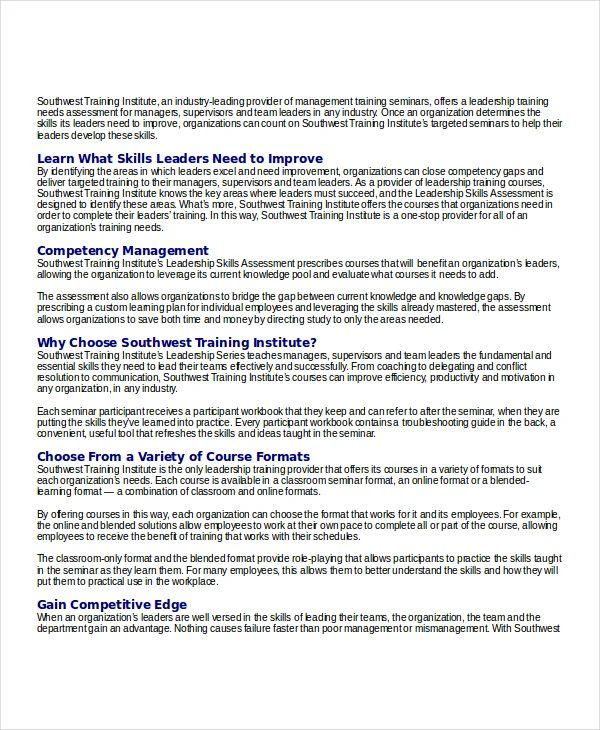 skills assessment templates