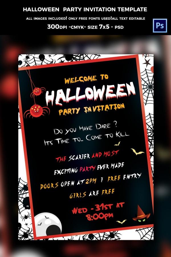 35+ Halloween Invitation - Free PSD, Vector EPS, AI, Format - halloween invitation template