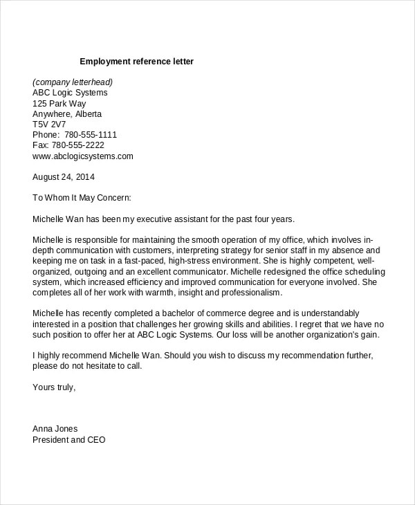 reference letter format for employment - Muckgreenidesign - How To Write A Reference Letter Uk
