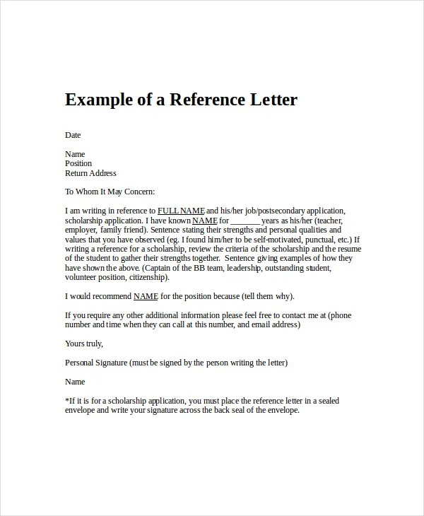 Employment Reference Letter - 8+ Free Word, Excel, PDF Documents