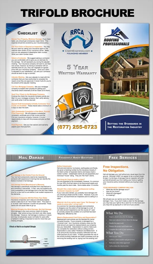 Catchy Roofing Brochure Examples