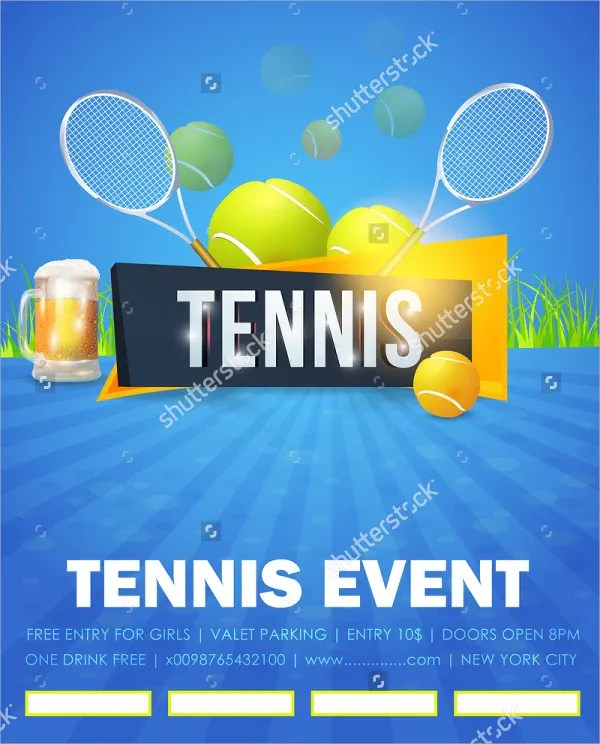 tennis flyers templates free - Jolivibramusic - event flyer template free