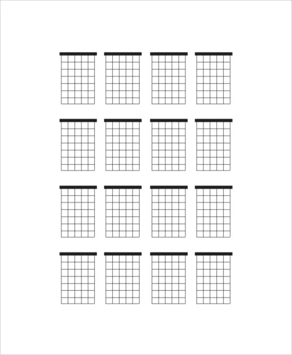 blank guitar chord chart - Towerssconstruction